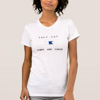 Salt Cay Turks and Caicos Alpha Dive Flag Tshirt