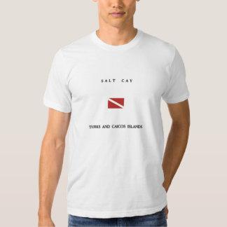 Salt Cay Turks and Caicos Islands Scuba Dive Flag Tee Shirt