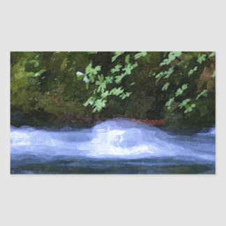 Salt Creek at Blue Pool Artwork Rectangular Sticker