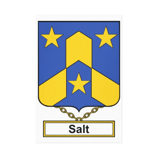 Salt Family Crest Stretched Canvas Print