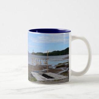 Salt Fish Drying, Newfoundland Two-Tone Mug