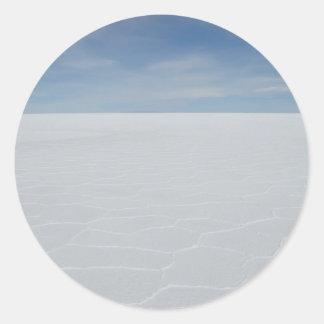 Salt Flats Round Sticker