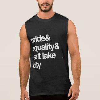 SALT LAKE CITY EQUALITY AND PRIDE -- .png Sleeveless Shirt