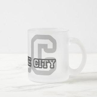 Salt Lake City Frosted Glass Mug
