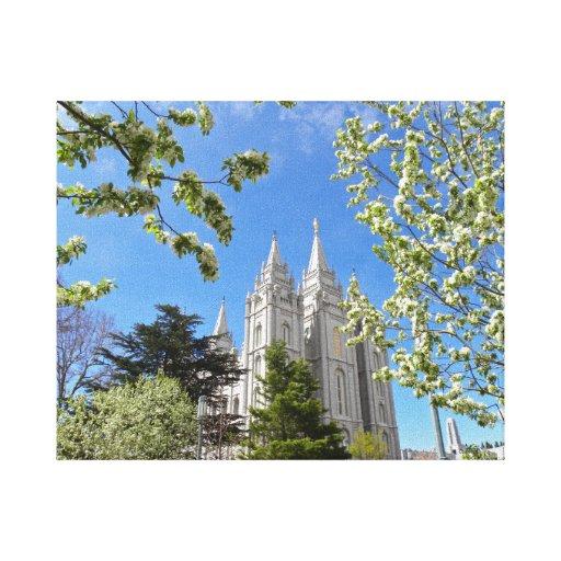 Salt Lake City LDS Temple Canvas Prints