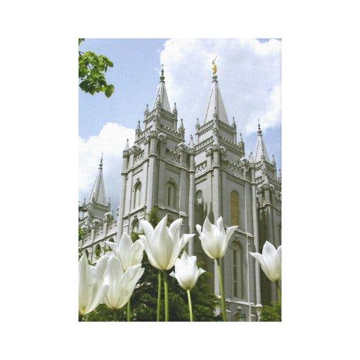 Salt Lake City LDS Temple Stretched Canvas Print
