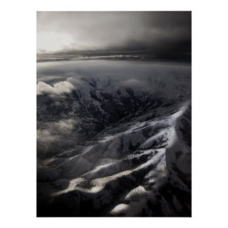 Salt Lake City Mountains Poster