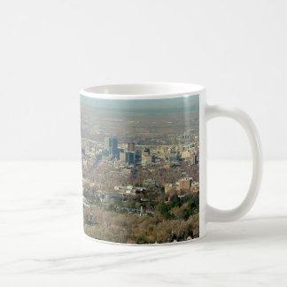 Salt Lake City Panoramic View Basic White Mug