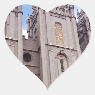 Salt Lake City Temple Heart Sticker