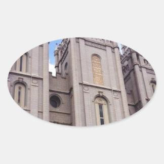 Salt Lake City Temple Oval Sticker