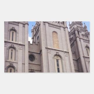 Salt Lake City Temple Rectangular Sticker