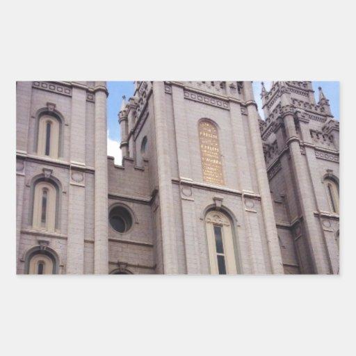 Salt Lake City Temple Rectangular Stickers