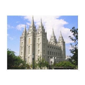 Salt Lake City Temple Wrapped Canvas Gallery Wrap Canvas