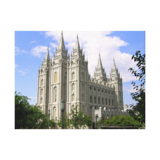 Salt Lake City Temple Wrapped Canvas Stretched Canvas Prints