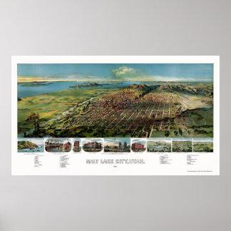 Salt Lake City UT Panoramic Map - 1891 Poster
