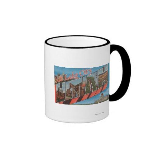 Salt Lake City, Utah - Large Letter Scenes Coffee Mug