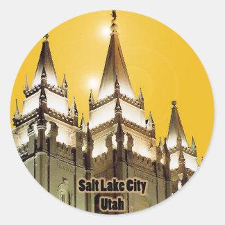 Salt Lake City, Utah Round Sticker