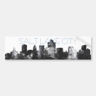 SALT LAKE CITY, UTAH SKYLINE - Car Bumper Sticker