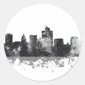 SALT LAKE CITY, UTAH SKYLINE - Round Stickers