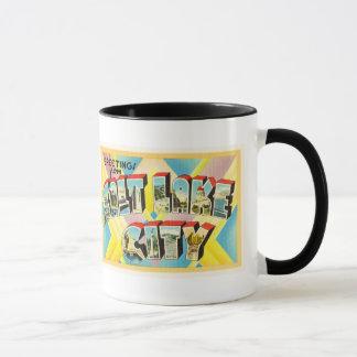 Salt Lake City Utah UT Old Vintage Travel Souvenir Mug