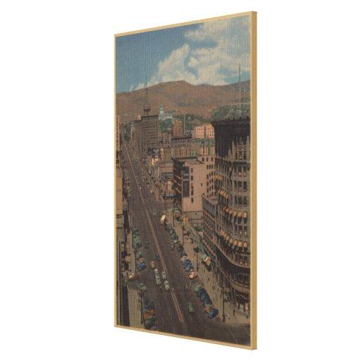 Salt Lake City, Utah - View of Main St. Stretched Canvas Prints