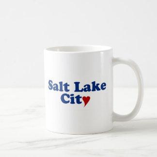 Salt Lake City with Heart Basic White Mug