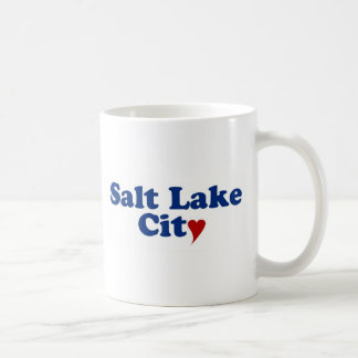 Salt Lake City with Heart Coffee Mug