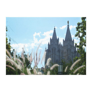 Salt Lake Temple (painted) Gallery Wrapped Canvas