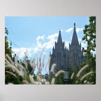 Salt Lake Temple painted Posters