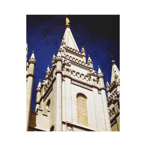 Salt Lake Temple Wrapped Canvas Canvas Prints