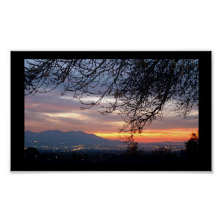 Salt Lake Valley Sunset Poster