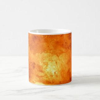 Salt Lamp with Orange Glowing Light Basic White Mug