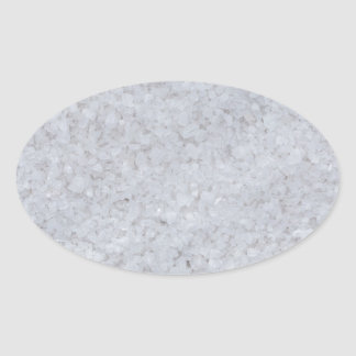 Salt macro as background structure oval sticker