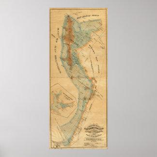 Salt marsh and tide lands map poster