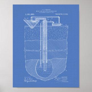 Salt Mining Apparatus 1914 Patent Art Blueprint Poster