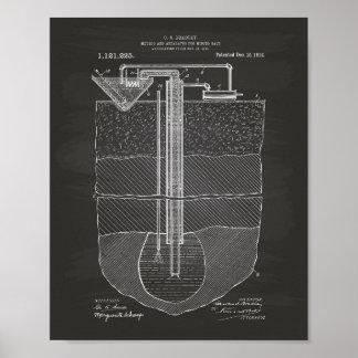 Salt Mining Apparatus 1914 Patent Art Chalkboard Poster