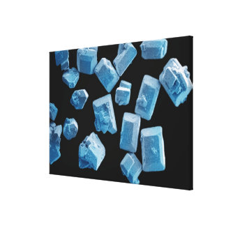 Salt (NaCl) crystals Stretched Canvas Print