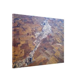 Salt Pans Stretched Canvas Prints