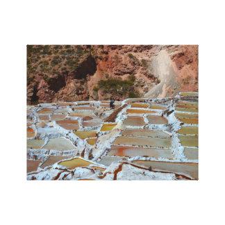 Salt Pans of Maras, Peru Canvas Print