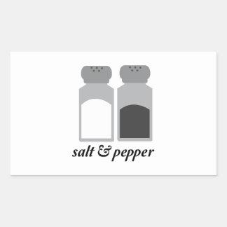 Salt & Pepper 1 Rectangle Stickers