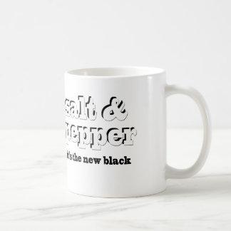 salt & pepper, it's the new black basic white mug