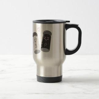 Salt & Pepper Stainless Steel Travel Mug