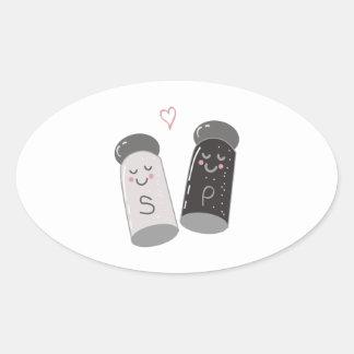 Salt & Pepper Oval Sticker