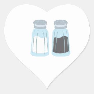 Salt & Pepper Heart Sticker