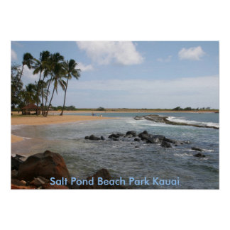 Salt Pond Beach Park Kauai Poster