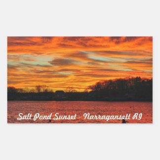 Salt Pond Narragansett Rhode Island Rectangular Sticker