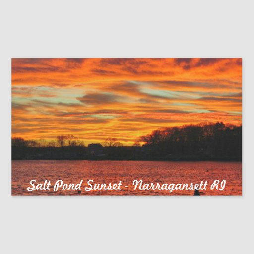 Salt Pond Narragansett Rhode Island Sticker