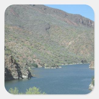 Salt River View Apache Trail Square Sticker