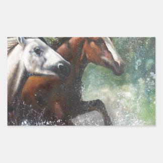 Salt River Wild Horses Rectangular Sticker