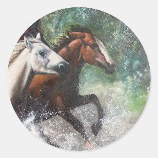 Salt River Wild Horses Round Sticker